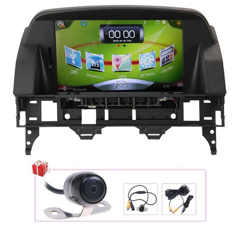 "Free 8G Map+rear camera 8"" Touch Screen Car GPS Navigation Satnav Multimedia Bluetooth Headunit Stereo for Mazda 6 2003-2014"