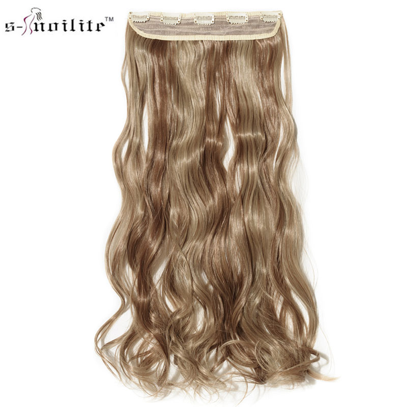 Snoilite 24inch Women Hair Extensions Curly Long Synthetic Woman