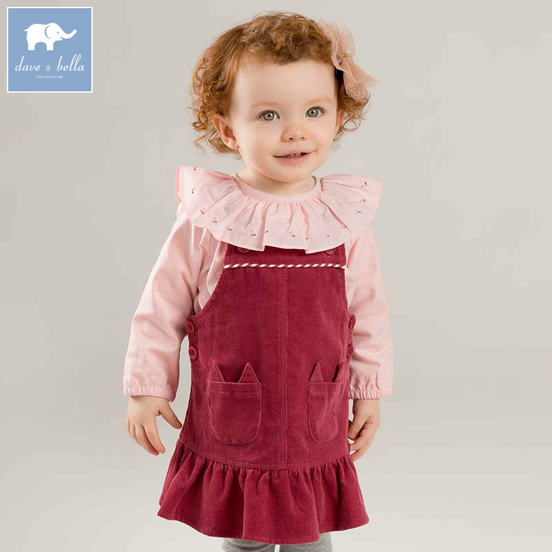 DBM7767 dave bella autumn infant baby girls strap dress kids birthday party suspenders dress toddler children clothesDBM7767 dave bella autumn infant baby girls strap dress kids birthday party suspenders dress toddler children clothes