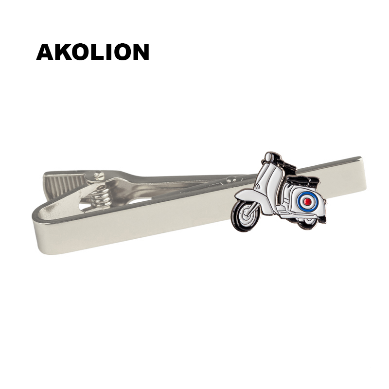 White Car Metal Tie Clip Metal Men Tie Bar Clip variety fashion style for business suit gift 1pc