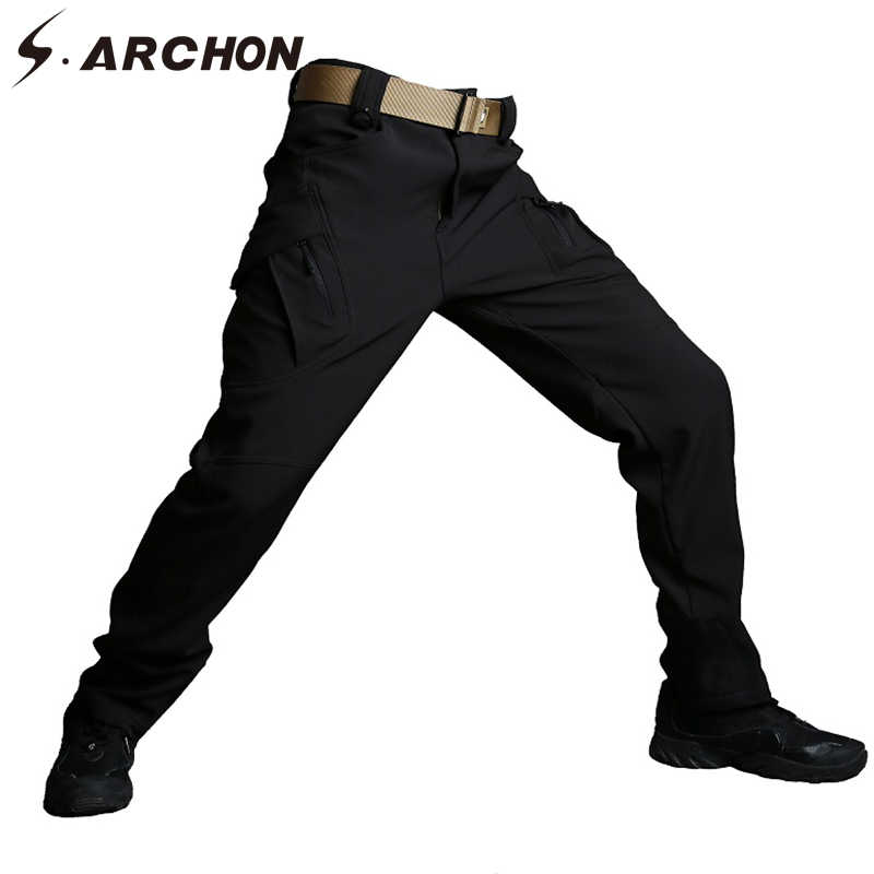 b7fa32d1a0e New IX9 Shark Skin Soft Shell Military Tactical Pants Men Waterproof Heat  Reflection SWAT Work Cargo