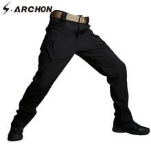 New IX9 Shark Skin Soft Shell Military Tactical Pants Men Waterproof Heat Reflection SWAT Work Cargo Army Pants Winter Casual