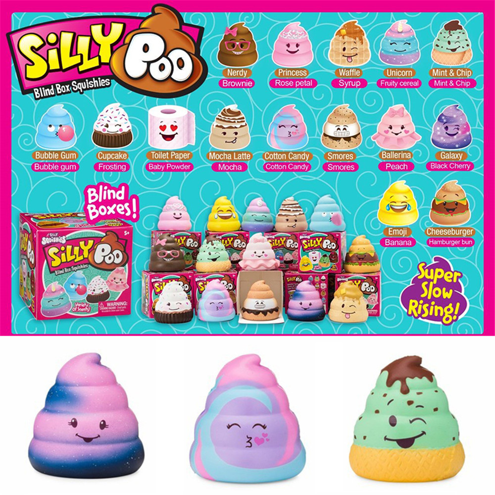 10Pcs/Lot Squishy Silly Poo Blind Box Slow Rising With Packaging Collection Gift Toy 7*6.5*6.5CM