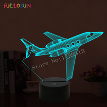 Fashion Airplane 3D Table Lamp LED 3D Decoration Lights USB 3D Lights as Christmas Holiday Gifts