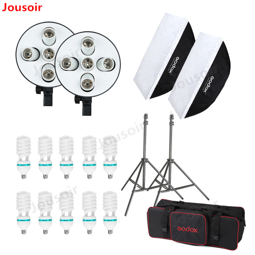2250W Photo Studio Continuous Lighting 10X45W Bulbs 50*70cm Softboxes Stands Kit CD502250W Photo Studio Continuous Lighting 10X45W Bulbs 50*70cm Softboxes Stands Kit CD50