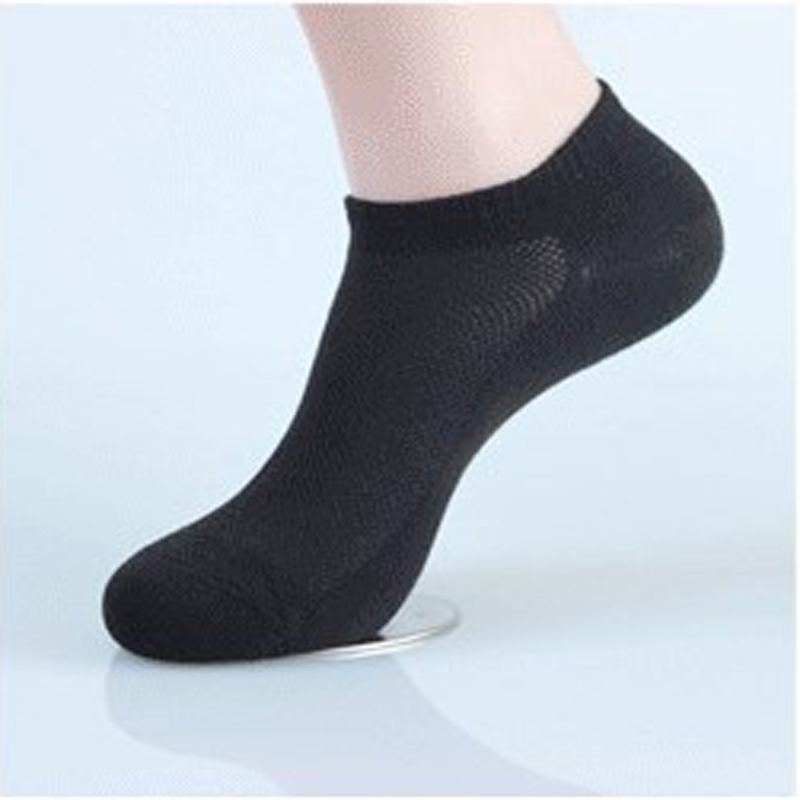 5Pairs/pack Black/White Color Men Ankle No Show Casual Cotton Socks Summer Thin Breathable Mesh Low Cut Socks For Boys Fashion