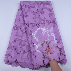 Image 5 - Guipure Lace Cord Lace Fabric High Quality Nigerian Lace Fabric 2019 African French Water Soluble Cord Lace For Wedding A1668
