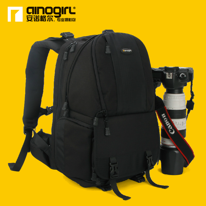 2014 hot sale Double-shoulder camera bag slr backpack professional camera bag camera bag camera backpack AINO GIRL  a2163