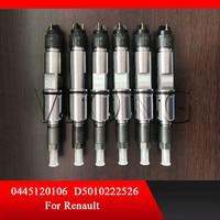 Para Dongfeng Renault 11.0L... 422KW/Dongfeng Shiyan DCI11_EDC7 D5010222526 de combustible common rail y de inyección de 0445120106|Inyector de combustible| |  -