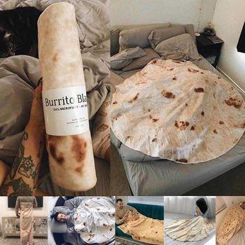 Super miękkie ciepłe flanelowe koce Burrito 280Gsm okrągły kształt samolot podróż rzuć koral polar Tortilla Nap beciki tanie i dobre opinie JAGDAMBE 100 poliester Anty-pilling Przenośne Nadające się do noszenia Geometryczne Wiosna jesień Koral polar tkanina