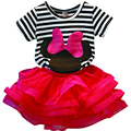 2016 New Baby Girls Sets Girls Minnie Mouse Clothing Set T shirts + Skirt Children 2pcs Suit Children's  Cotton Clothes New year