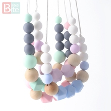 Bite Bites 1pc Silicone Teething Necklace Baby Food Grade Beads Gifts For the New Year Chain BPA Free Teether
