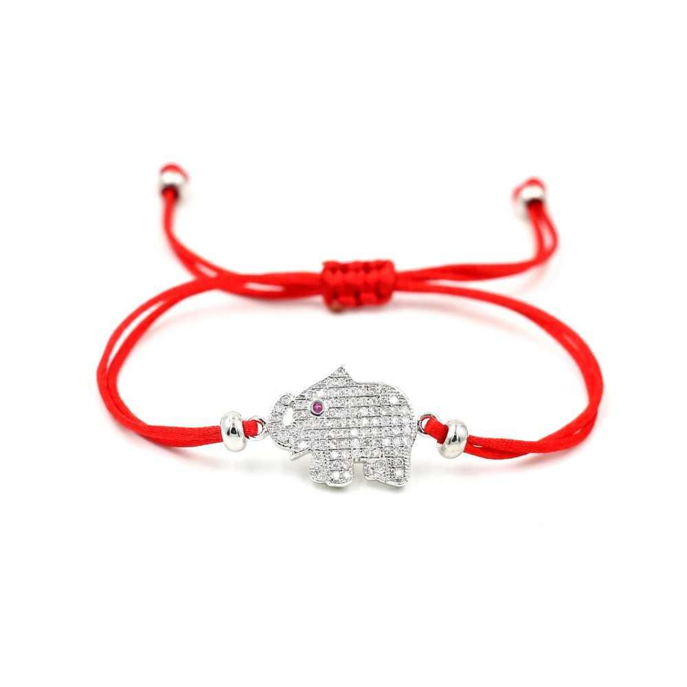 アニマルブレスレット女性の恋人ラッキー赤糸ダブル文字列ブレスレットロープ編組アジガールジュエリー