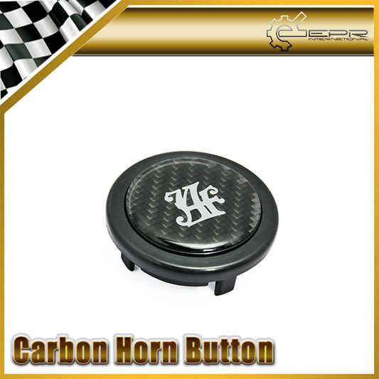 Car Accessories For JAF Carbon Sticker Steering Wheel Push Horn Button Car Styling