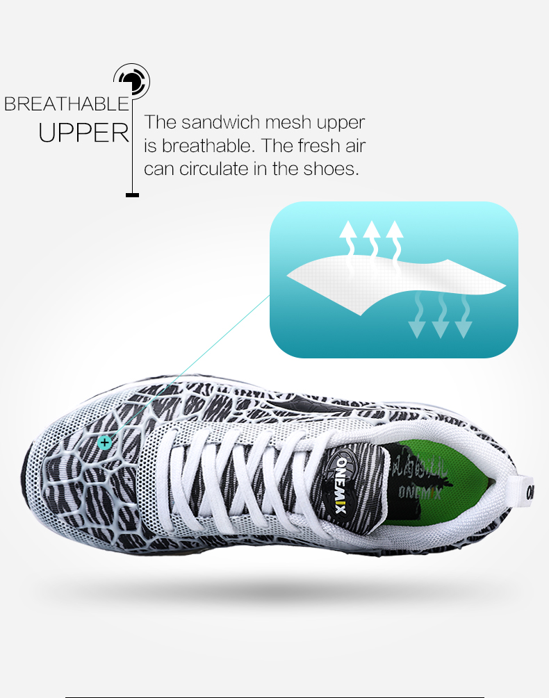 ONEMIX 17 women's running shoes Breathable Mesh Athletic Shoes for air Cushion women Sneakers Outdoor Sneakers Run Comfortable 5