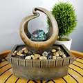 Free Shipping Creative water fountain waterscape office desktop gifts home decoration decoration crafts humidifying small place