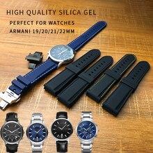 52f9b2bc333f 19 20 21 22mm correa de reloj de goma de silicona de alta calidad correa de  reloj de punta plana deporte pulseras universales pa.