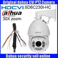 Оригинал Dahua CVI Камера 2MP 1080 P 30X HDCVI PTZ Камера IP66 OSD Оригинальная английская версия DHI-SD6C230I-HC CVI купольная камера