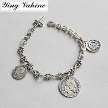 Authentique 925 Bijoux En Argent Sterling Hero Napoléon Tête Coin Charm  Bracelets pour les Femmes( 3cacdec1d28