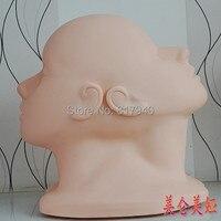Nueva llegada! de Alta calidad de Silicona suave maquillaje cabeza de maniquí Femenino maniquí Cosmetología cabezas de Capacitación práctica Maniquí cabeza