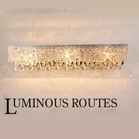 modern Crystal LED mirror headlight carved European style headlights luxury crystal bathroom bathroom dressing wall lamps light