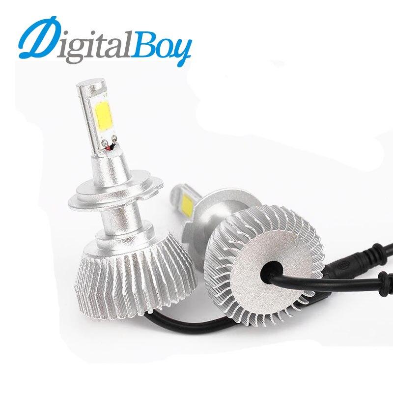 Digitalboy 2pcs H7 LED Car Headlight H1 H3 H4 H8 H9 H11 880 881 9004 9007 9005 9006 Car Headlamp Fog Light Conversion Light Bulb 2x car led headlight 12v 24v 60w 7200lm 6000k light auto headlamp bulb kit h1 h3 h4 h7 8 9 h11 h13 9004 9005 9006 9007 880 881