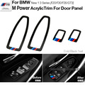 Motorsport M Performance Acrylic Window Switch Frame Cover Car Door Panel Trims For BMW 1 3 Series F20 F30 F35 3 GT 3GT Styling