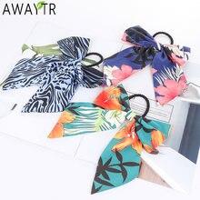 Женская резинка для волос awaytr с бантом из ленты и цветочным