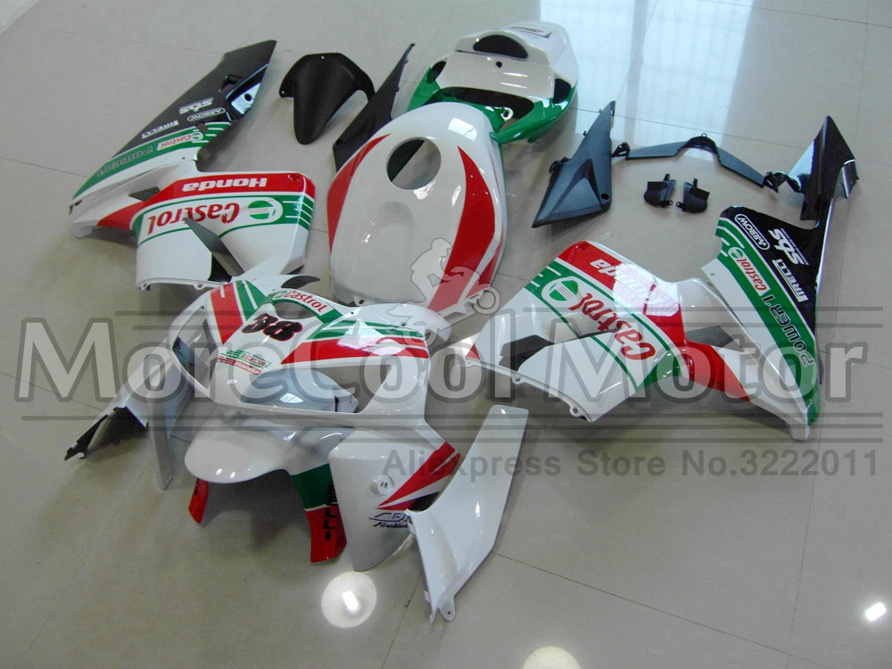Injection Fairings For Honda CBR600RR F5 03 04 2003 2004 CASTROL ABS Plastic Motorcycle Fairing Kit abs injection fairings kit for honda 600 rr f5 fairing set 07 08 cbr600rr cbr 600rr 2007 2008 castrol motorcycle bodywork part
