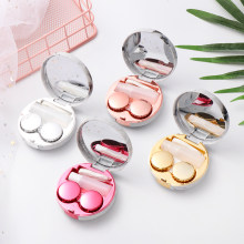 1Pc Hot Cute Marble Stripe Contact Lens Case Travel Glasses Lenses Box For Unisex Eyes Care Kit Holder Container Support Gift(China)