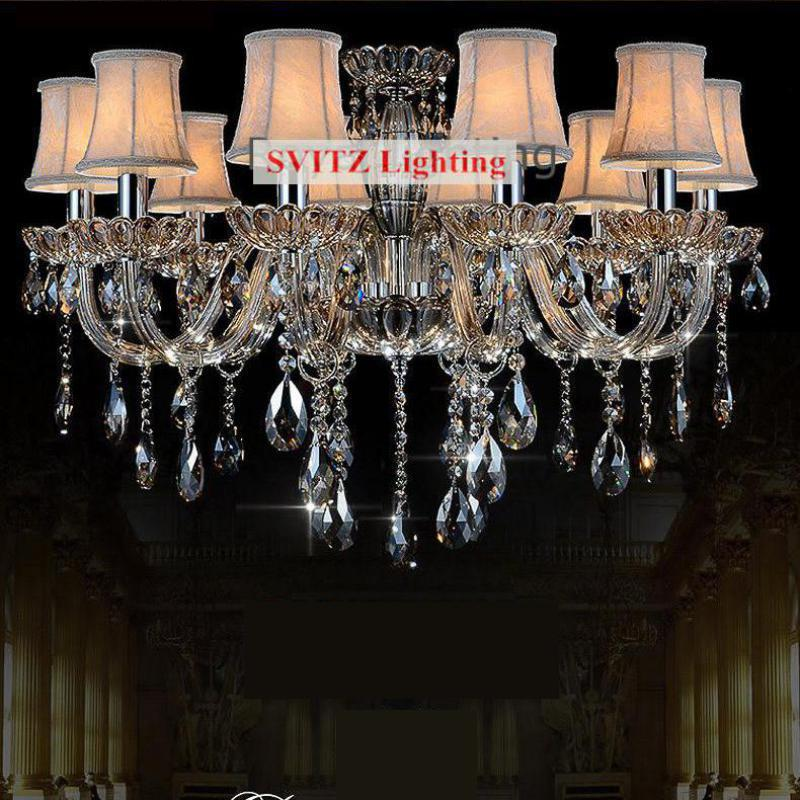 Dining Room Chandeliers Traditional Crystals: Parlor Contemporary Amber Crystal Chandelier Led Lamparas