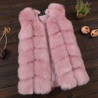Baby Fur Vest Girls Kids Waistcoats Faux Fox Fur Children Girls Vest Winter Jacket Fake Fur