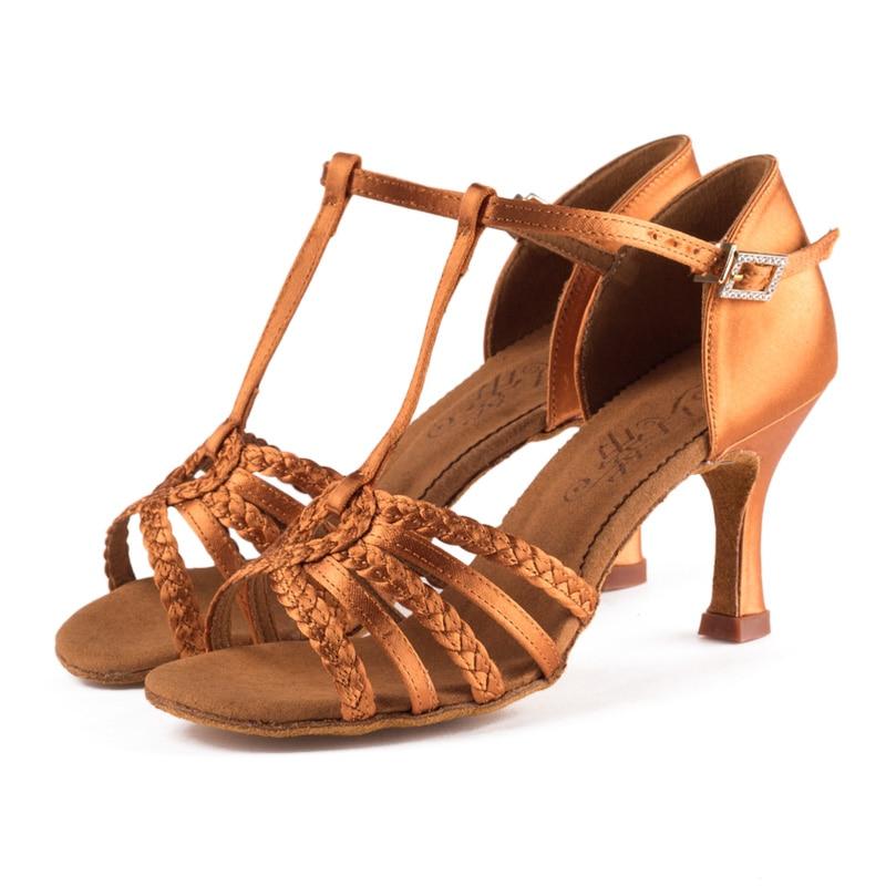Breathable Sneakers Ballroom Dance Shoes Women Brand Ladies Shoes Dancing Sports Latin Shoe Upscale Satin Heel