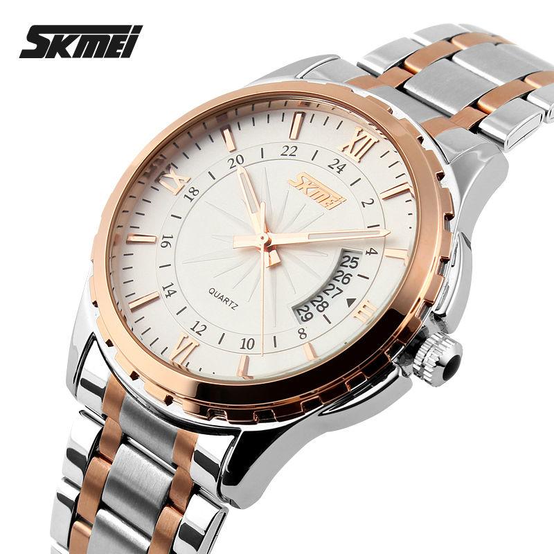 SKMEI 9069 Men Quartz Watch Men Full Steel Wristwatches Dive 30M Fashion Sport Watch relogio masculino