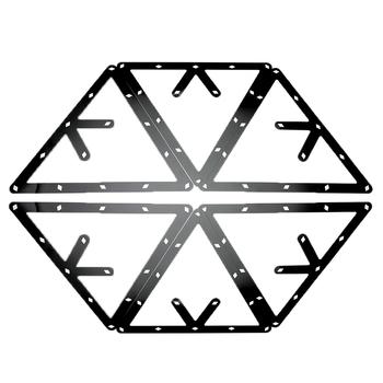 6 sztuk magiczne stojaki kulkowe trójkątne 8 9 10 kulek pozycjonowanie kij bilardowy czarny sport rozrywka akcesoria wysokiej jakości tanie i dobre opinie Forfar POOL Plastic Black approx 0 1mm