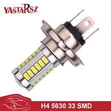 1Pcs Universal External Light H4 P43T 33 Smd 5630 Led Convex Len Car Headlights Driving Fog Head Lights Lamps Bulb HeadLamp 12v