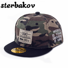 Sterbakov brand gorras baseball cap camouflage DGK pattern hip hop flat tongue cap boy girl snapback crianca sun Hat fitted hats