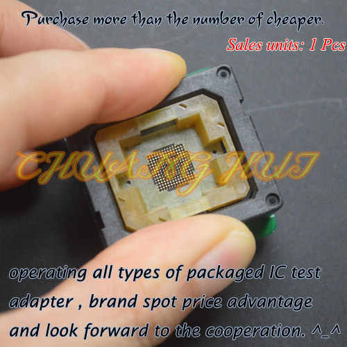 IC TEST eMMC 153/169 test socket BGA VFBGA IC TEST SOCKET Pitch:0.5mm 30pin 11.5X13mm