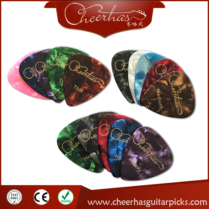 Cheerhas pearloid celluloid both sides printing guitar pick guitar accessory