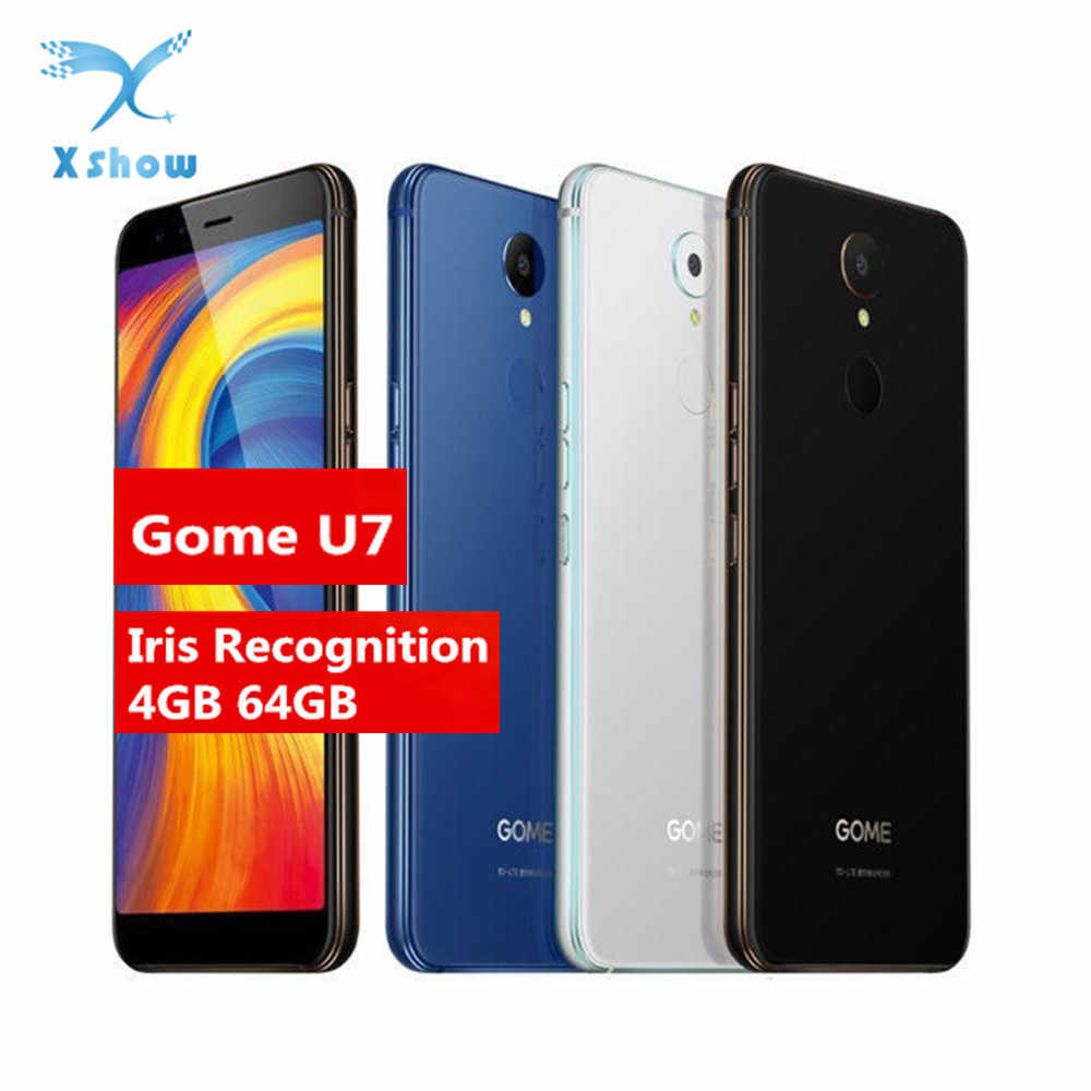 هاتف Gome U7 شاشة 5.99 بوصة 18:9 FHD 3050mAh هاتف محمول NFC MTK6757CD 13MP 4GB + 64GB أندرويد 7.1 OTG بصمة 4G LTE هاتف خلوي