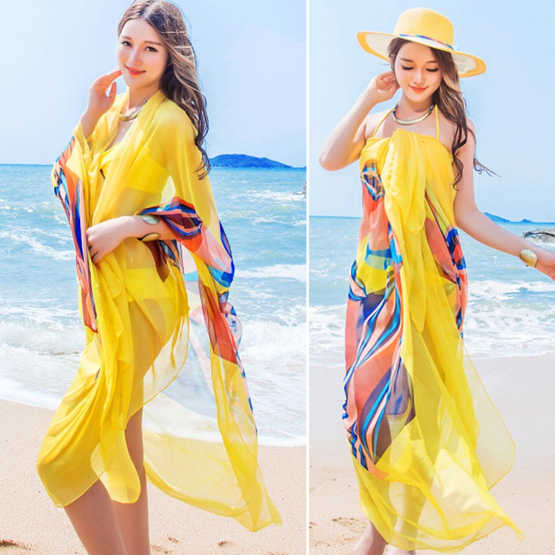 99d917ce4fdf4 Pareo Scarf Women Beach Sarongs Beach Cover Up Summer Chiffon Scarves  Geometrical Design. aeProduct.getSubject() aeProduct.