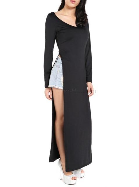 Open Slit Maxi Dress