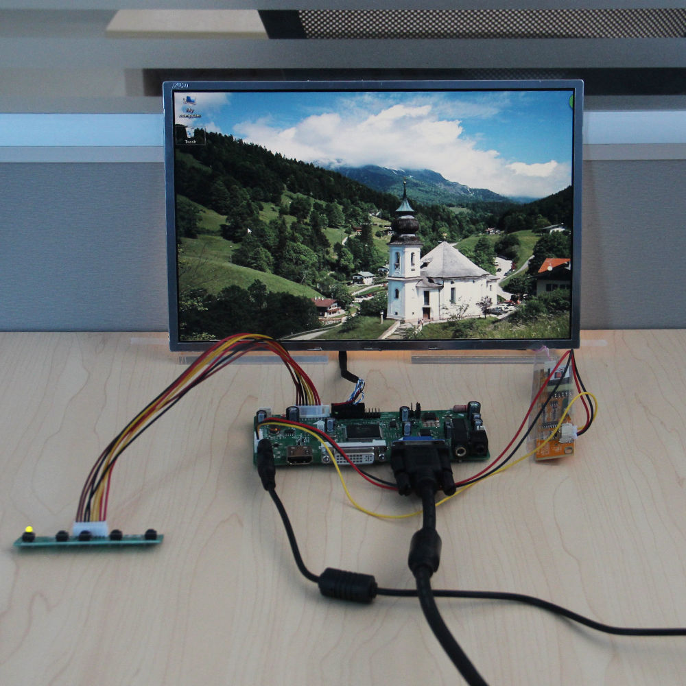 HDMI+DVI+VGA+Audio Controller Board+12inch 1280*800 DIY TFT Screen for B121EW03