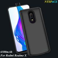 External Battery Charger Cases For Xiaomi Redmi Realme X Battery Case 6500mAh Ultra Slim Portable Power Bank Charging Cover Case