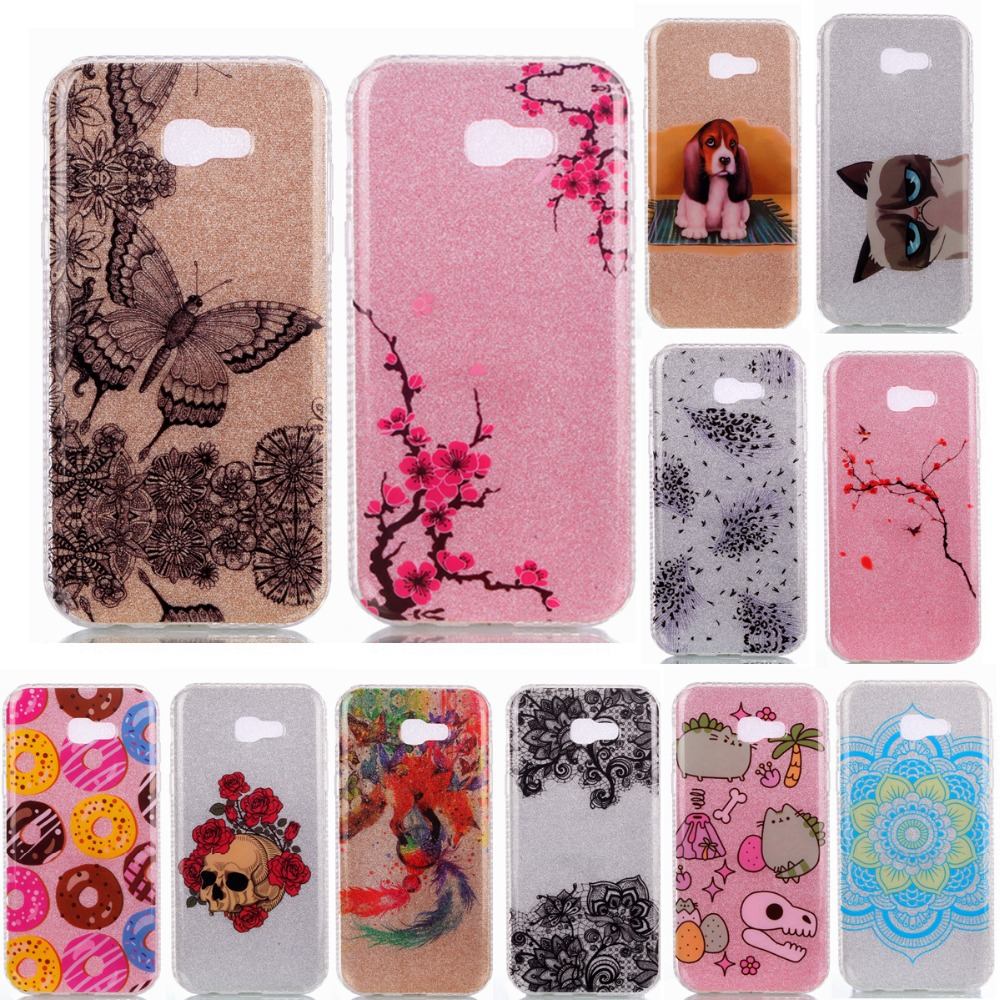 Best Price Sparkling Glitter Shining Hard Back Cover Case For Samsung - Bling shining cute cartoon cat mandala flower butterfly soft silicone case for samsung j5 prime j7 prime a7 2017 back cover capa