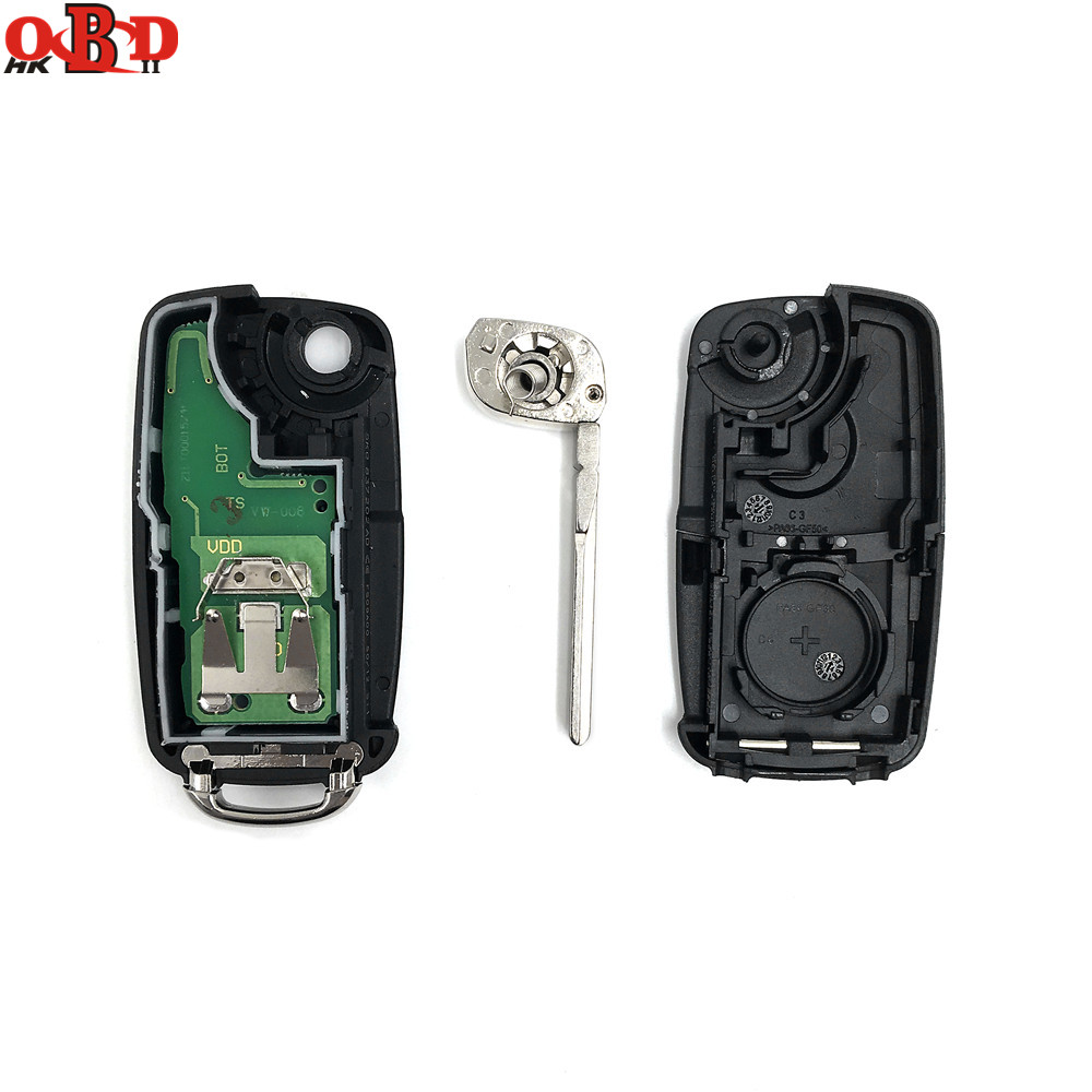 HKOBDII New 3 Buttons 202AD Remote Key 433MHZ with 48 chip For Volkswagen VW Lavida 1KO 959 753N in Car Key from Automobiles Motorcycles