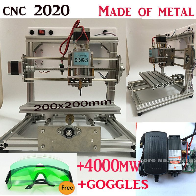 cnc 2020+4000mw laser large area,cnc engraving machine,Pcb Milling Machine,diy mini cnc router,Wood Carving machine,GRBL control eur free tax cnc 6040z frame of engraving and milling machine for diy cnc router