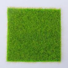 1 шт. искусственная трава поддельная газонная трава миниатюрный кукольный домик декор украшения для домашнего сада искусственный газон украшение набор Прямая поставка