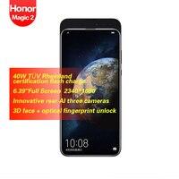 Honor Magic 2 Full Screen 6.39inch Smart Phone 6cameras Face+fingerprint recognition 3500mAh 2340*1080 Octa Core 16MP+24MP+16MP