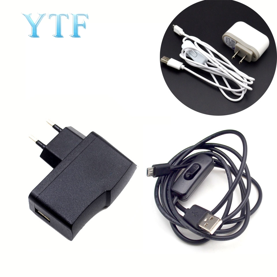 5V 2.5A And 5V 2.5A Micro USB Charger Adapter Cable Switching Power Supply For Raspberry Pi 2 3 B + B Latest EU USA